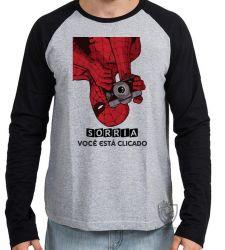 Camiseta Manga Longa Homem Aranha foto