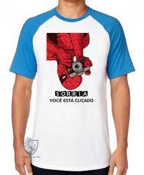 Camiseta Raglan Homem Aranha foto