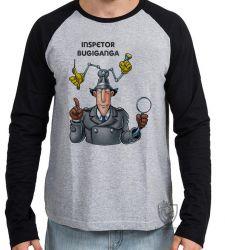 Camiseta Manga Longa Inspetor Bugiganga