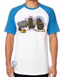 Camiseta Raglan Hanna Barbera Irmãos Rocha