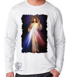 Camiseta Manga Longa Jesus Cristo luz