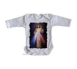 Roupa Bebê manga longa Jesus Cristo luz