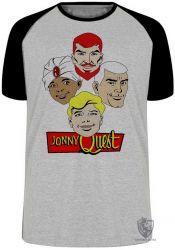 Camiseta Raglan Jonny Quest  cabeças