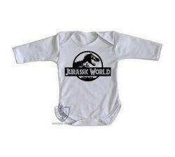 Roupa Bebê manga longa Jurassic Park logo