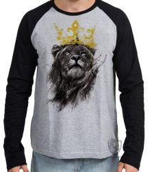 Camiseta Manga Longa Leão O Rei