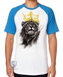 Camiseta Raglan Leão O Rei
