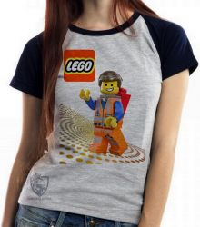 Blusa Feminina  Lego Emmet Brickowski