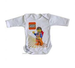 Roupa Bebê manga longa Lego Emmet Brickowski