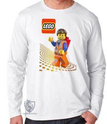 Camiseta Manga Longa Lego Emmet Brickowski