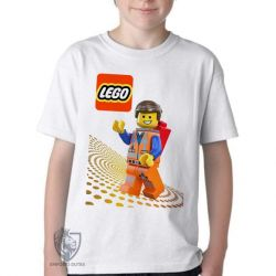 Camiseta Infantil  Lego Emmet Brickowski