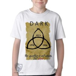 Camiseta Infantil  Dark The question is when