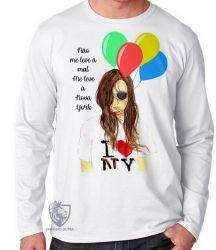 Camiseta Manga Longa Me leve à NY