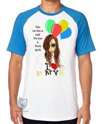 Camiseta Raglan Me leve à NY