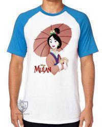 Camiseta Raglan Mulan sombrinha