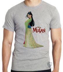 Camiseta Infantil Mulan vestido