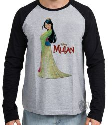 Camiseta Manga Longa Mulan vestido
