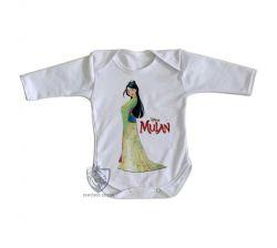 Roupa Bebê manga longa Mulan vestido