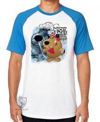 Camiseta Raglan  Mutley azul