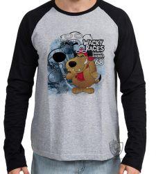 Camiseta Manga Longa  Mutley azul