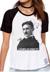 Blusa Feminina Nikola Tesla Batalha das Correntes