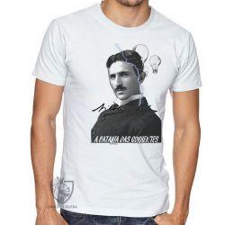 Camiseta  Nikola Tesla Batalha das Correntes