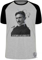 Camiseta Raglan Nikola Tesla Batalha das Correntes