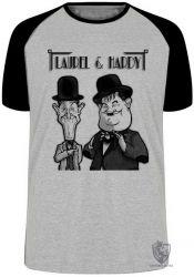 Camiseta Raglan  O Gordo e o Magro