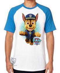 Camiseta Raglan  Patrulha Canina Chase