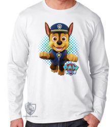 Camiseta Manga Longa Patrulha Canina Chase