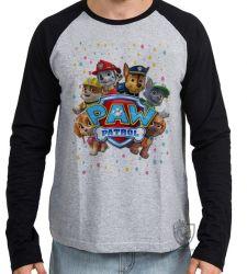 Camiseta Manga Longa Patrulha Canina equipe