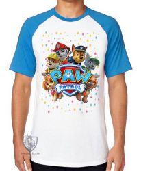 Camiseta Raglan  Patrulha Canina equipe