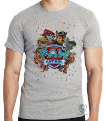 Camiseta Infantil  Patrulha Canina equipe