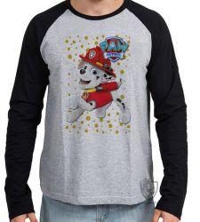 Camiseta Manga Longa Patrulha Canina Marshall