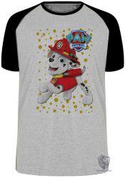 Camiseta Raglan  Patrulha Canina Marshall