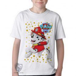 Camiseta Infantil  Patrulha Canina Marshall