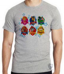 Camiseta Infantil  Patrulha Canina nomes