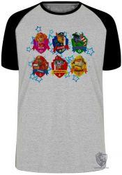 Camiseta Raglan  Patrulha Canina nomes