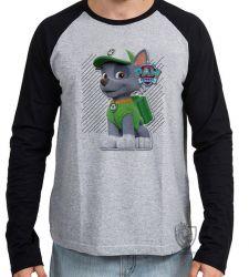 Camiseta Manga Longa Patrulha Canina Rocky