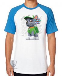 Camiseta Raglan  Patrulha Canina Rocky