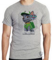Camiseta Infantil  Patrulha Canina Rocky