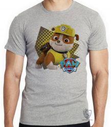 Camiseta Infantil  Patrulha Canina Rubble
