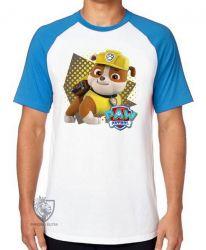 Camiseta Raglan  Patrulha Canina Rubble