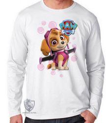 Camiseta Manga Longa Patrulha Canina Skye