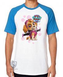 Camiseta Raglan  Patrulha Canina Skye
