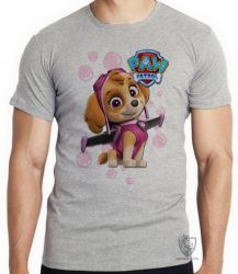 Camiseta Infantil  Patrulha Canina Skye