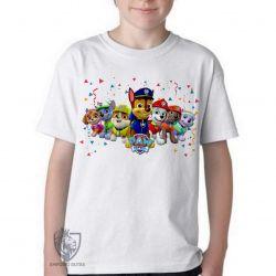 Camiseta Infantil  Patrulha Canina todos