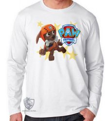 Camiseta Manga Longa Patrulha Canina Zuma