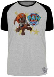 Camiseta Raglan  Patrulha Canina Zuma