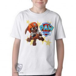 Camiseta Infantil  Patrulha Canina Zuma