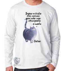 Camiseta Manga Longa Pets Chloe